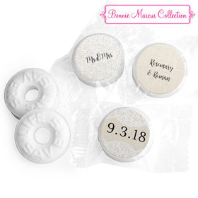 Personalized Bonnie Marcus Wedding Lace Trim on Burlap Life Savers Mints