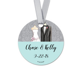 Personalized Bonnie Marcus Collection Round Together Forever Wedding Favor Gift Tags (20 Pack)