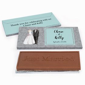 Deluxe Personalized Wedding Forever Together Chocolate Bar in Gift Box