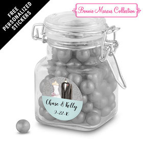 Bonnie Marcus Collection Personalized Latch Jar Together Forever Custom Wedding Favor (12 Pack)