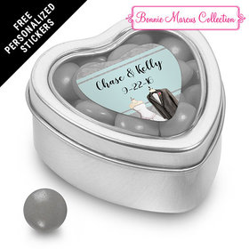 Bonnie Marcus Collection Personalized Small Heart Tin Together Forever Custom Wedding Favor (25 Pack)
