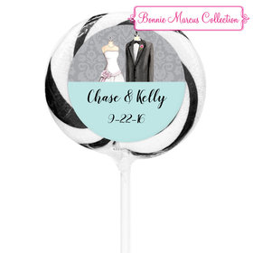 """Bonnie Marcus Collection Personalized 3"""" Black Whirly Pop Together Forever Custom Wedding Favor (24 Pack)"""
