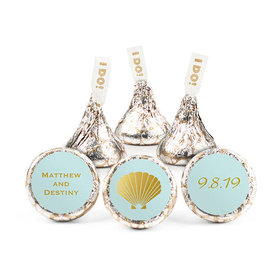 Personalized Bonnie Marcus Wedding Shell Hershey's Kisses (50 pack)