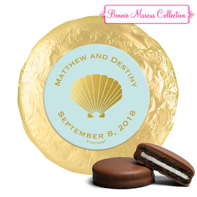 Personalized Bonnie Marcus Wedding Siren's Shell Milk Chocolate Covered Oreos (24 Pack)