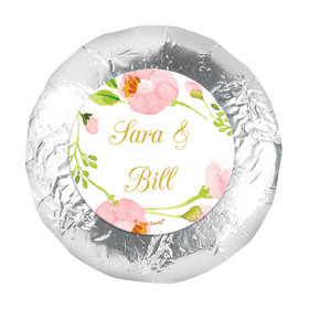 "Personalized Wedding Botanical Wreath 1.25"" Stickers (48 Stickers)"