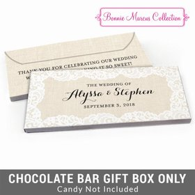 Deluxe Personalized Lace & Linen Wedding Candy Bar Cover