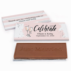 Deluxe Personalized Wedding Bubbly Chocolate Bar in Gift Box