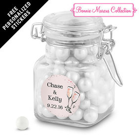 Bonnie Marcus Collection Personalized Latch Jar The Bubbly Custom Wedding Favor (12 Pack)