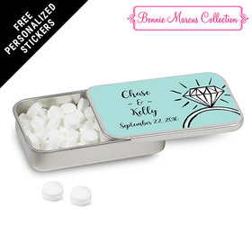 Bonnie Marcus Collection Personalized Mint Tin Last Fling Custom Wedding Favor (12 Pack)