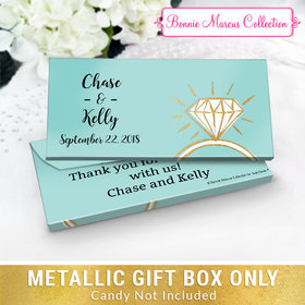 Deluxe Personalized Last Fling Wedding Metallic Candy Bar Cover