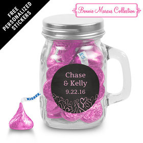 Bonnie Marcus Collection Personalized Mini Mason Jar Sweetheart Swirl Wedding Favor