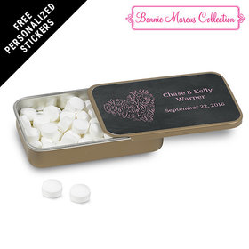 Bonnie Marcus Collection Personalized Mint Tin Sweetheart Swirl Wedding Favor (12 Pack)