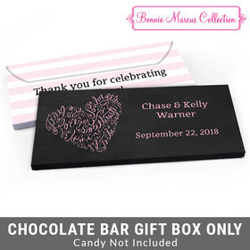 Deluxe Personalized Swirl Wedding Candy Bar Cover