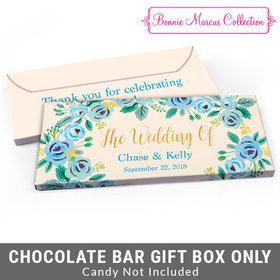 Deluxe Personalized Something Blue Wedding Candy Bar Cover