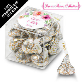 Bonnie Marcus Collection Personalized Box Floral Embrace Custom Wedding Favor (25 Pack)
