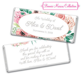 Personalized Bonnie Marcus Bridal Shower Blossom Bliss Chocolate Bar & Wrapper