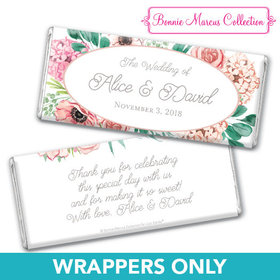 Personalized Bonnie Marcus Bridal Shower Blossom Bliss Chocolate Bar Wrappers Only