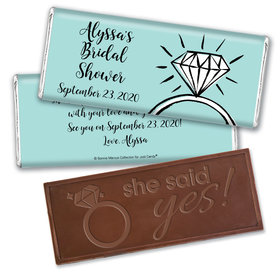 Bonnie Marcus Collection Personalized Embossed Chocolate Bar Chocolate and Wrapper Last Fling Bridal Shower Favors