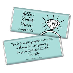 Bonnie Marcus Collection Personalized Chocolate Bar Chocolate and Wrapper Last Fling Bridal Shower Favors