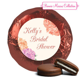 Bonnie Marcus Collection Bridal Shower Blooming Joy Milk Chocolate Covered Oreo Cookies Foil Wrapped (24 Pack)