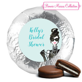 Bonnie Marcus Collection Bridal Shower Showered in Vogue Belgian Chocolate Covered Oreo Cookies Foil Wrapped (24 Pack)