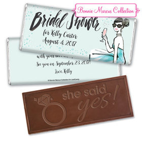 Bonnie Marcus Collection Personalized Embossed Chocolate Bar Bridal Shower Sunny Soiree Personalized