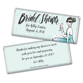 Bonnie Marcus Collection Personalized Chocolate Bar Bridal Shower Sunny Soiree Personalized