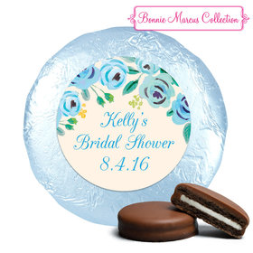 Bonnie Marcus Collection Bridal Shower Here's Something Blue Milk Chocolate Covered Oreo Cookies Foil Wrapped (24 Pack)