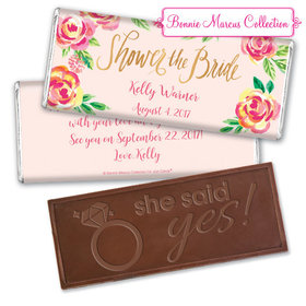 Bonnie Marcus Collection Personalized Embossed Chocolate Bar Bridal Shower In the Pink Personalized
