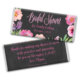 Bonnie Marcus Collection Personalized Chocolate Bar Wrappers Bridal Shower Floral Embrace Personalized
