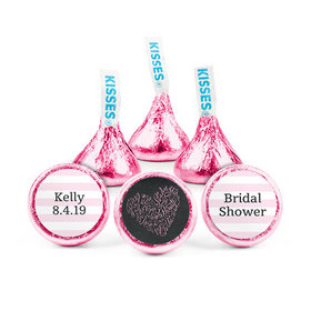 Personalized Bonnie Marcus Bridal Shower Whispering Heart Hershey's Kisses (50 pack)