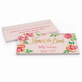 Deluxe Personalized Bridal Shower In the Pink Chocolate Bar in Gift Box