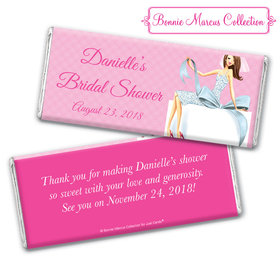Personalized Bonnie Marcus Bridal Shower Brunette Bride Chocolate Bar & Wrapper