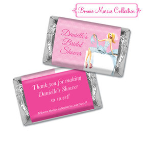 Personalized Bonnie Marcus Bridal Shower Beautiful Bride with Bow Blonde Hershey's Miniatures