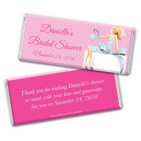Personalized Bonnie Marcus Bridal Shower Blonde Bride Chocolate Bar Wrappers Only