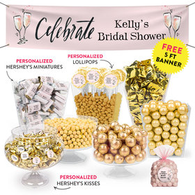 Personalized Bridal Shower Bubbly Deluxe Candy Buffet