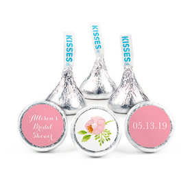 Personalized Bonnie Marcus Bridal Shower Botanical Wreath Hershey's Kisses (50 pack)