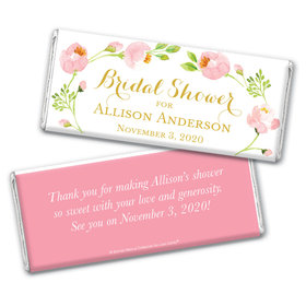 Personalized Bonnie Marcus Bridal Shower Botanical Wreath Chocolate Bar Wrappers Only