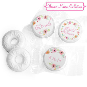 Personalized Bonnie Marcus Wedding Water Color White Blossoms Life Savers Mints