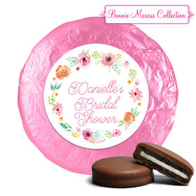 Personalized Bonnie Marcus Wedding Water Color White Blossoms Milk Chocolate Covered Oreos