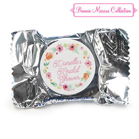 Personalized Bonnie Marcus Wedding Water Color White Blossoms York Peppermint Patties (84 Pack)