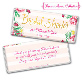 Personalized Bonnie Marcus Bridal Shower Fabulous Floral Chocolate Bar & Wrapper