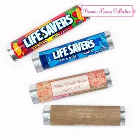 Personalized Bridal Shower Blooming Joy Lifesavers Rolls (20 Rolls)