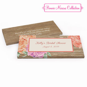 Deluxe Personalized Bridal Shower Blooming Joy Chocolate Bar in Gift Box