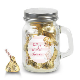 Bonnie Marcus Collection Personalized Mini Mason Jar Bridal Shower Bridal March Personalized (12 Pack)