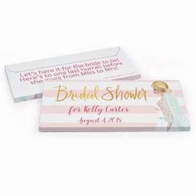 Deluxe Personalized Bridal Shower Bridal March Chocolate Bar in Gift Box