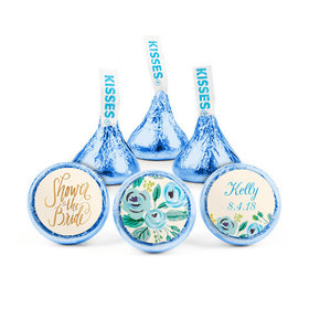 Personalized Bonnie Marcus Bridal Shower Something Blue Hershey's Kisses (50 pack)