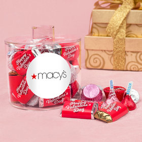Personalized Valentine's Day Add Your Logo Container with Hershey's Mix