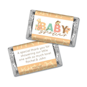 Baby Shower Personalized Hershey's Miniatures Wrappers Safari Snuggles