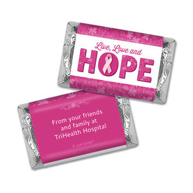Personalized Breast Cancer Hershey's Miniatures Wrappers Live Love Hope